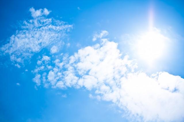 真夏の晴天