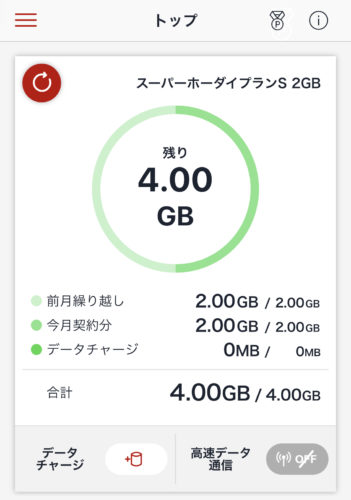 楽天SIMアプリ